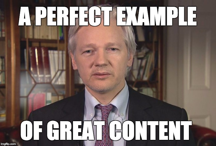 Julian Assange - A perfect example of great content